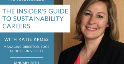 The Insider's Guide to Sustainability Careers Webinar