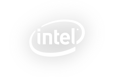 A light version of the Intel logo.