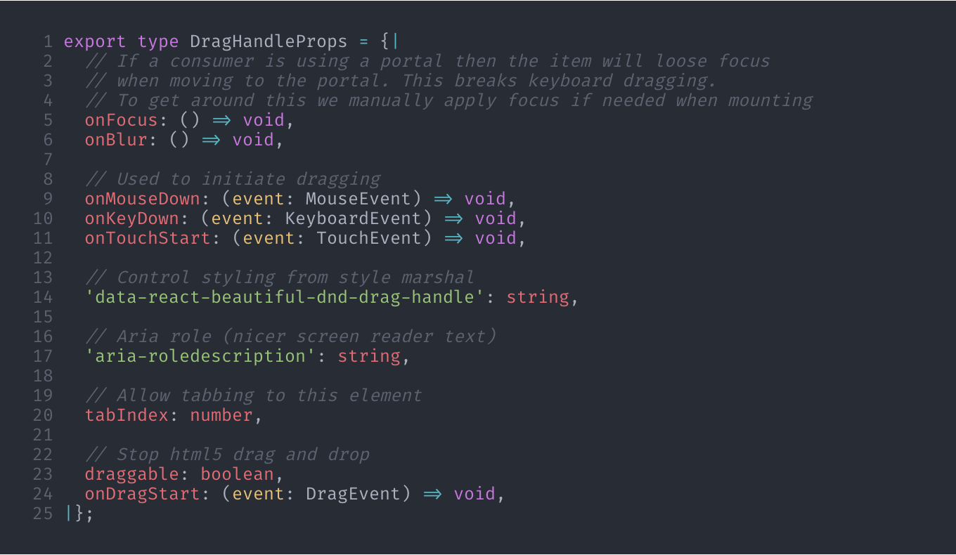 Terminal text capture of Atlassian's react-beautiful-dnd project,