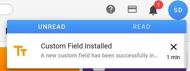 Custom Field notification