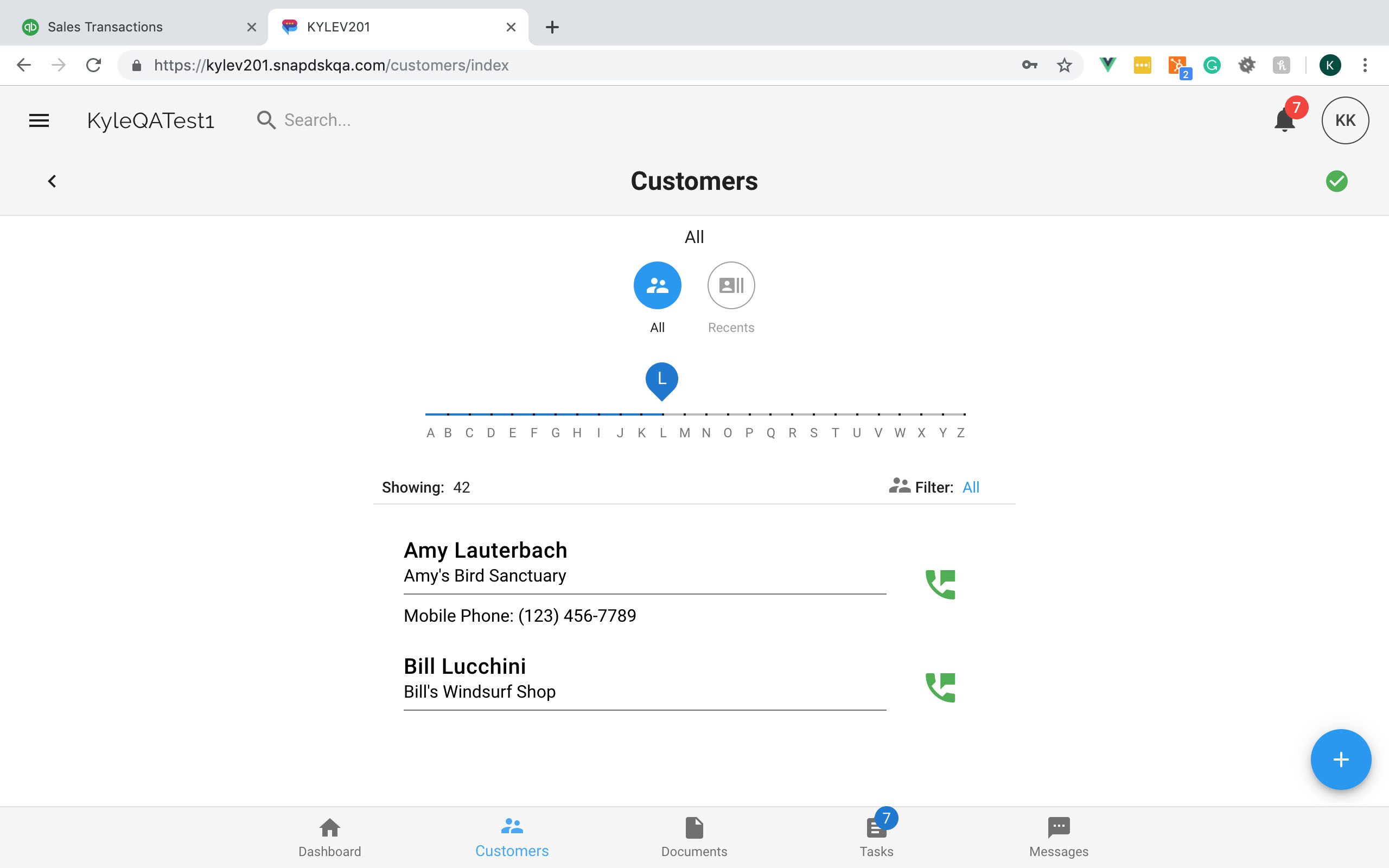 snapdsk-customers-dashboard