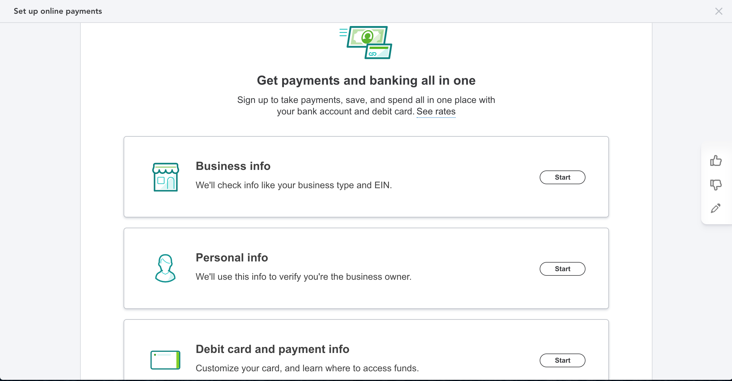 Set Up Payments