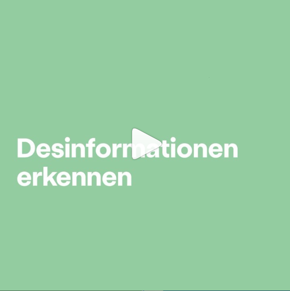Desinformationen erkennen