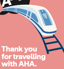 Thank you for travelling with AHA.