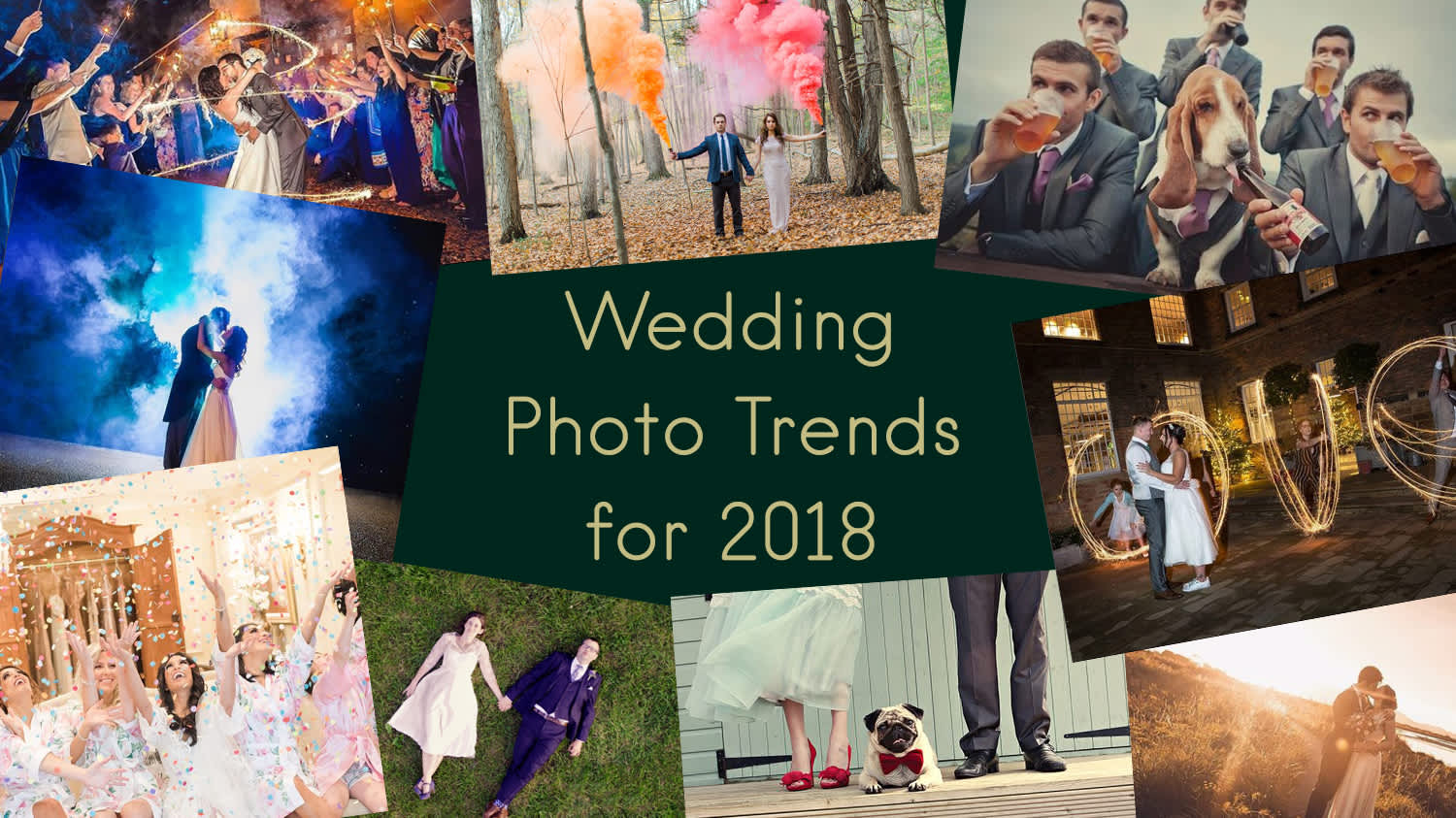 Wedding photo trends for 2018