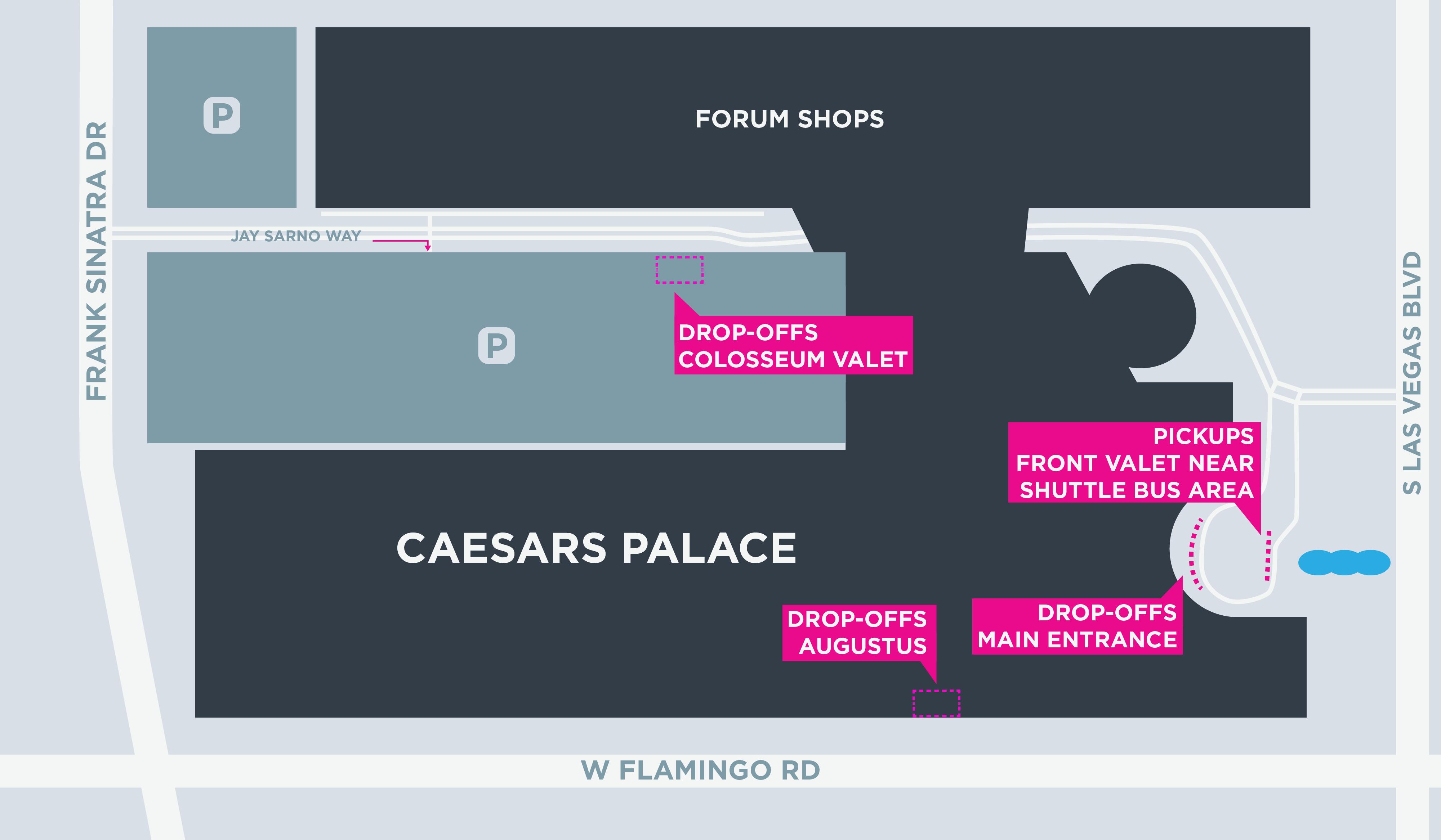 Mapa do Caesars Palace