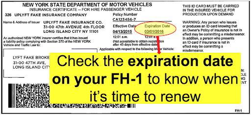 ejemplo de seguro fh1 vencido