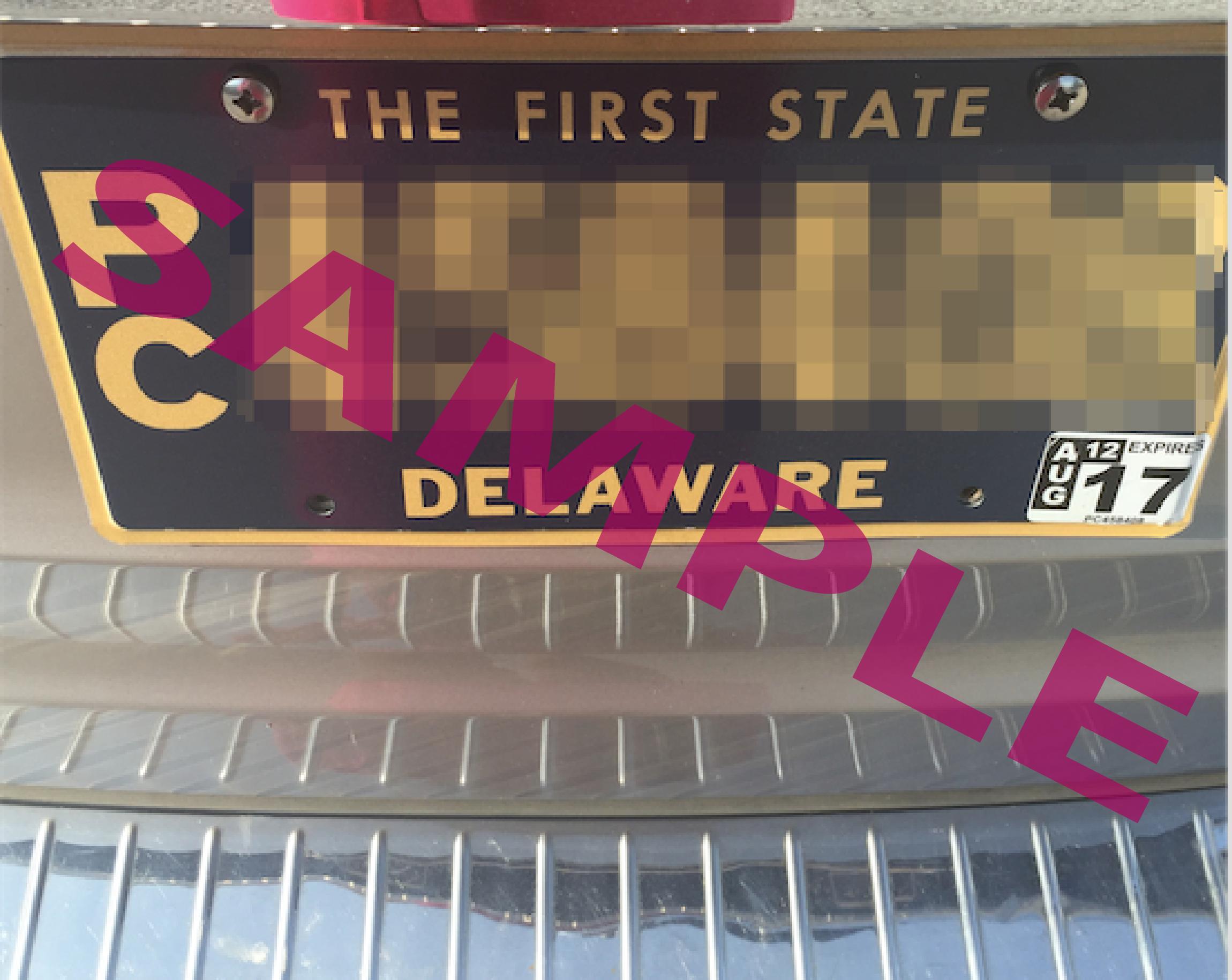 Example DE sticker