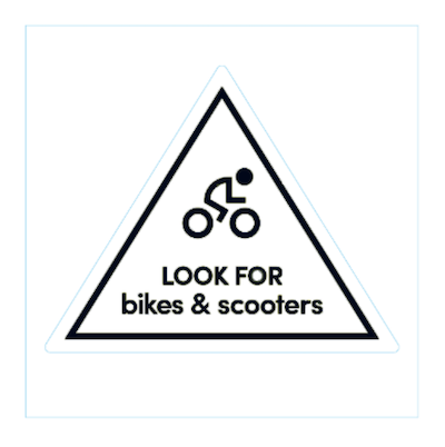 exemple d'autocollant pour les vélos et trottinettes