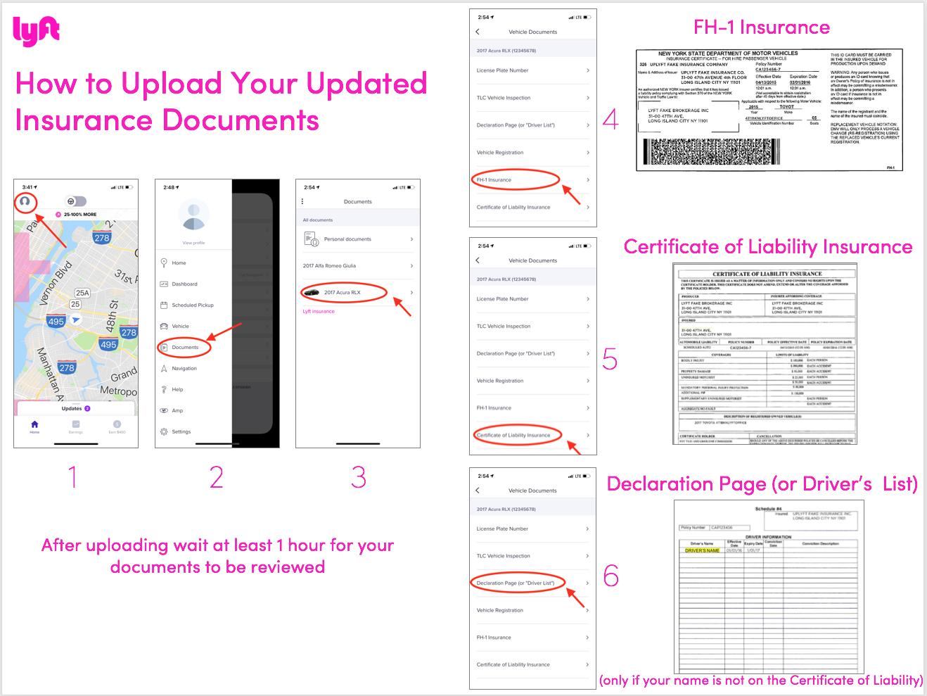 cómo enviar los documentos del seguro