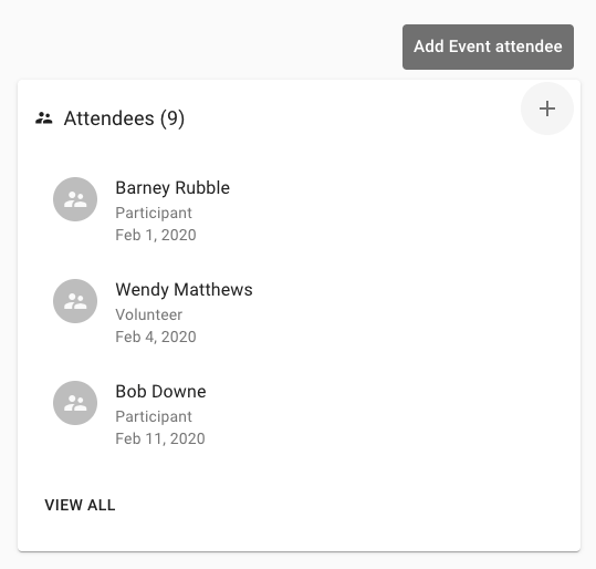 Add event attendees from event