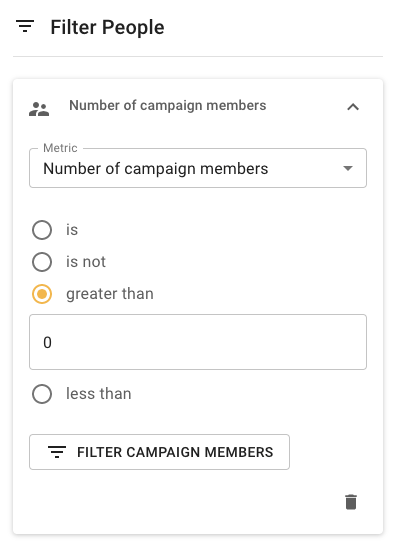 Filter for campaign member records