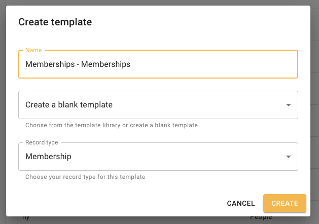 Memberships create import template
