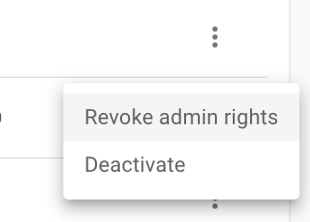 Revoke admin rights