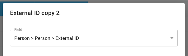 Person > Person > External ID