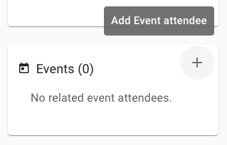 Add event attendee from person