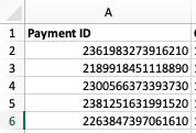 Facebook payment ID full