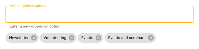 New dropdown option added