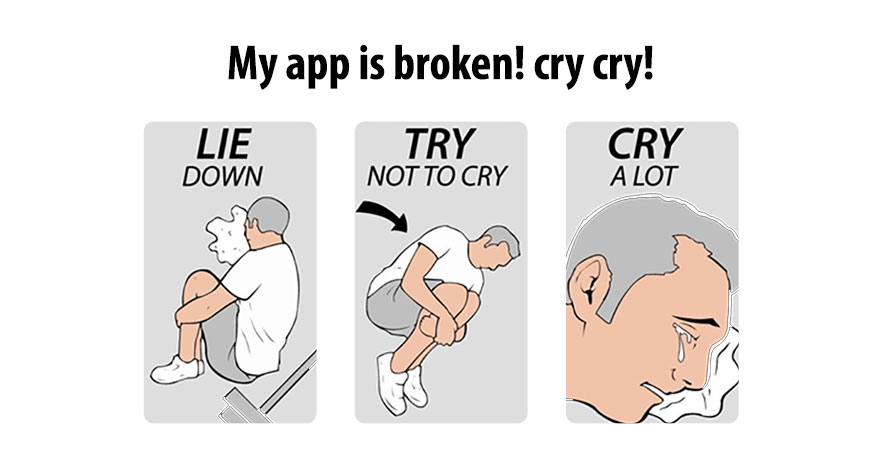 crying developer