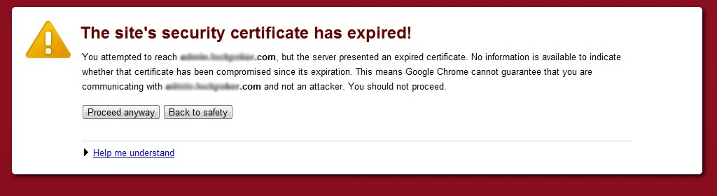 security-certificate-has-expired