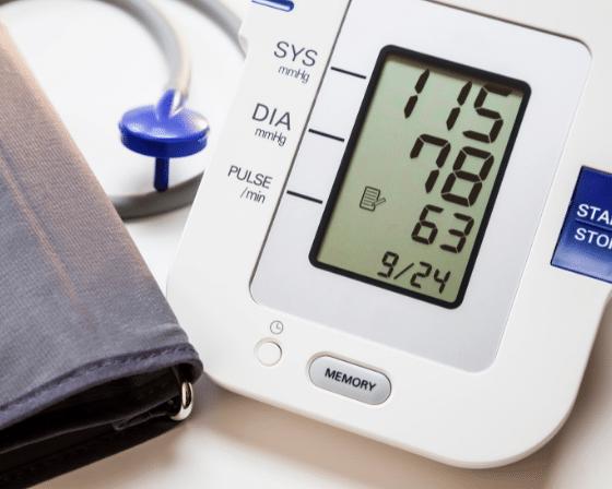 My blood pressure reading