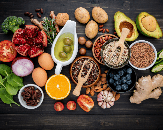 Heart Healthy foods: Avocado, Whole Grains, Seeds and Berries