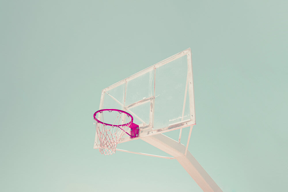A basketball hoop.