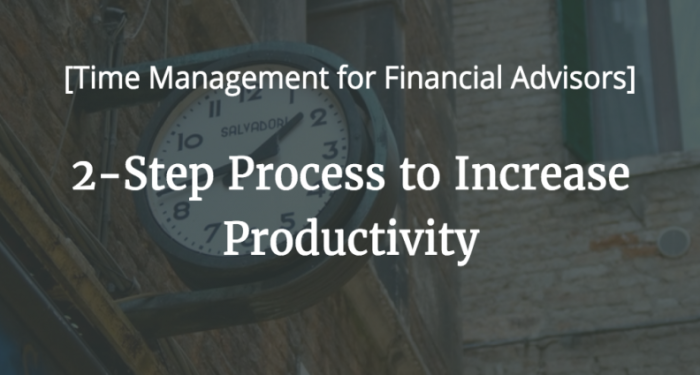 2 step process to increase productivity