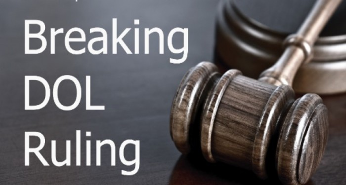 Breaking dol ruling
