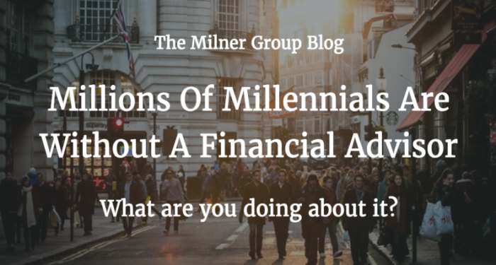 Millenials without finc advisors