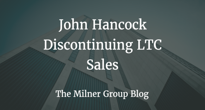Jh discontinuing ltc sales