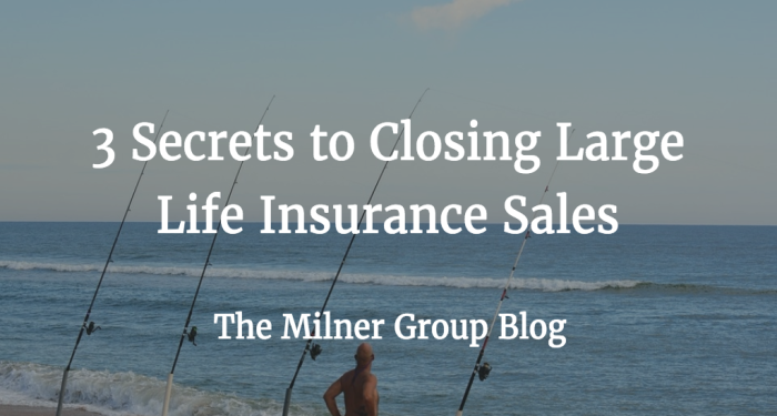 3 secrets to closing large sales