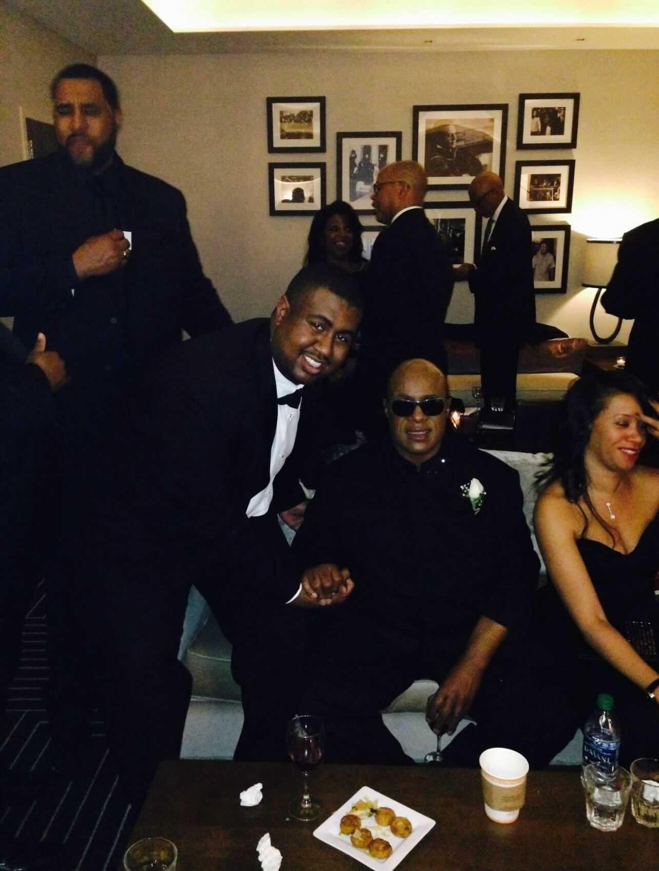 Reggie Matthews with Stevie Wonder