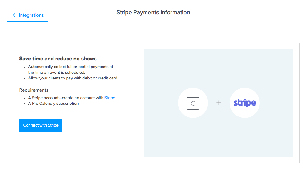 Stripe Payments information image overview