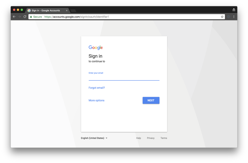 google sign in image