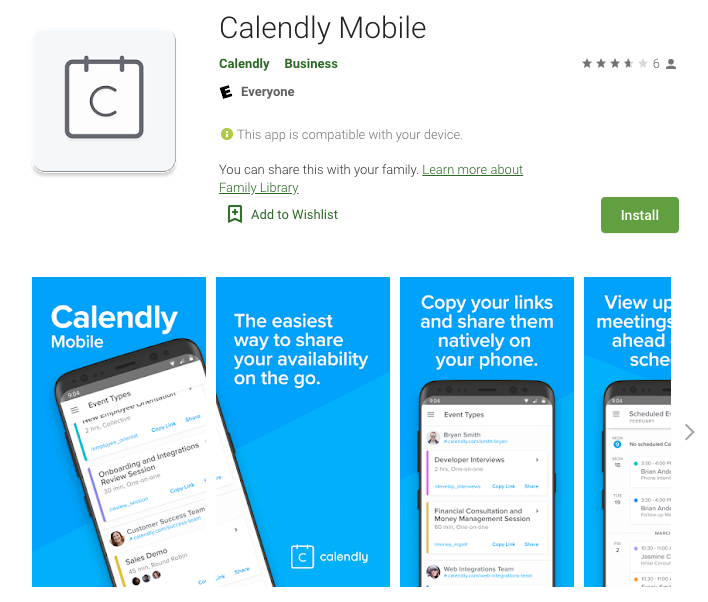 Calendly Mobile app for Android