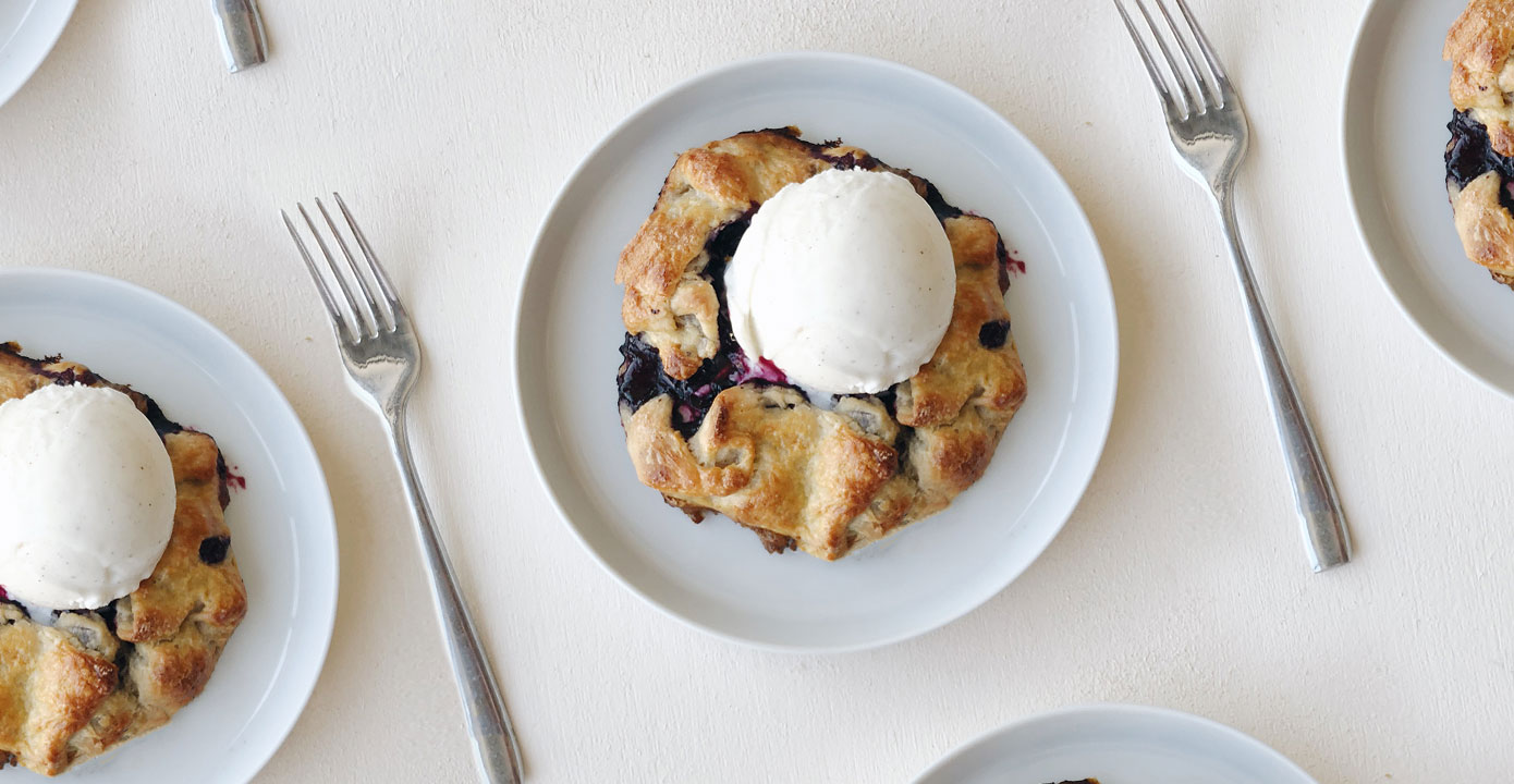 How to Make Mini Blueberry Lemon Galettes — From Scratch!