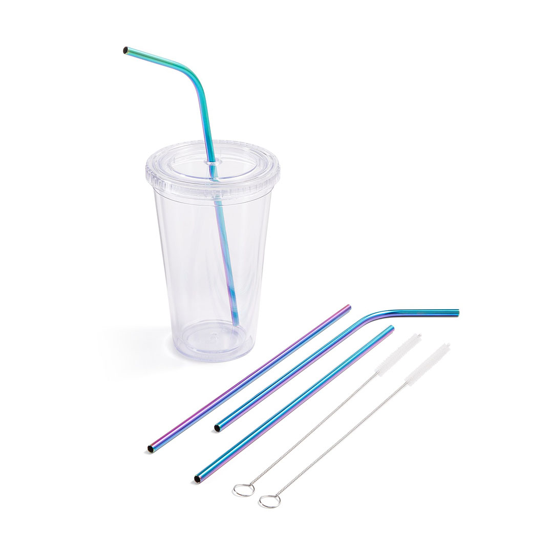 Reusable Straws Travel Cup