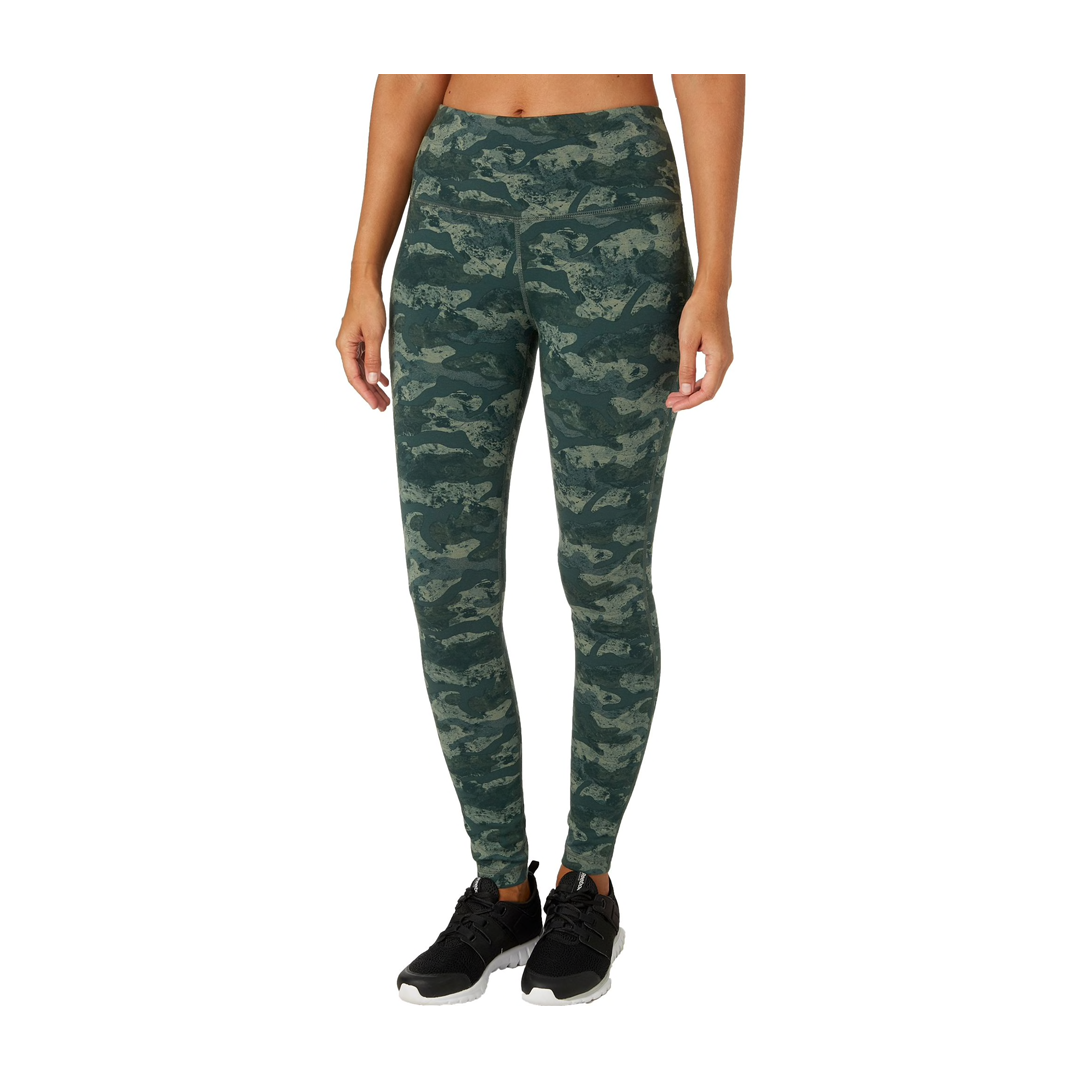 Reebok Women's High Waisted Printed Stretch Cotton Leggings