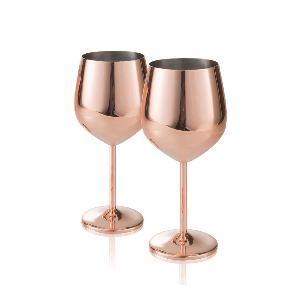 Holiday Gift Guide Ideas For Couples Copper Wine Glasses