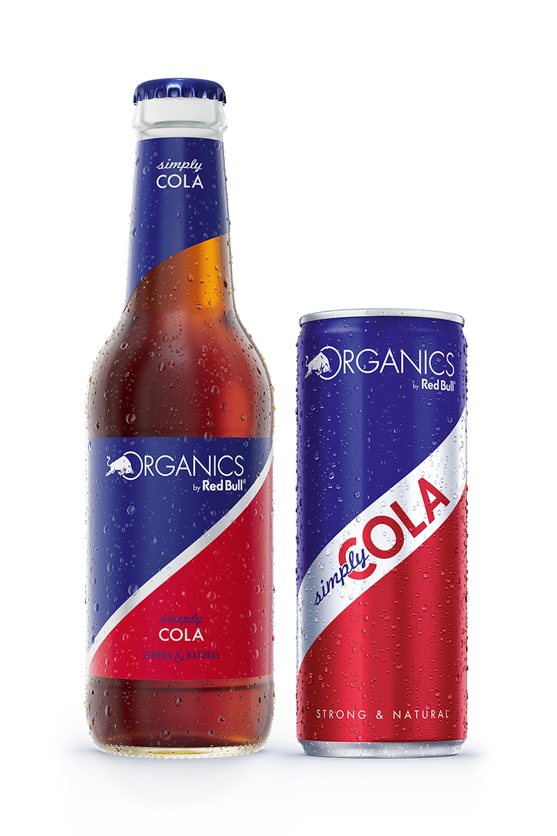 Red Bull Organics Simply Cola Can and Bottle