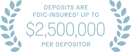 Deposits are fdic-insured up to $2 million per depositor