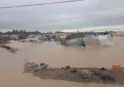 A flash flood hit an IDP camp on the outskirts of Kandahar city in March 2019.