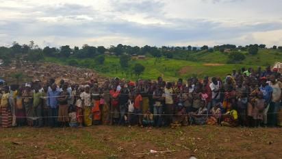 La cohabitation entre communautés demeure fragile dans la régio nde Kalemie. OCHA/ Y.Edoumou
