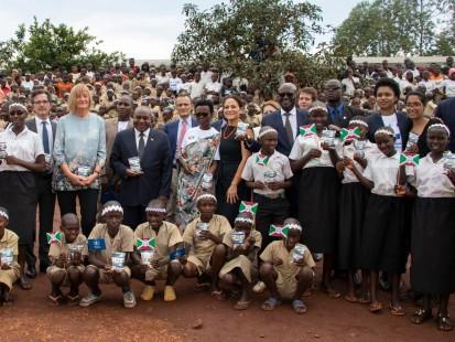 Lancement du projet de renforcement de la chaine de valeur locale du lait à Gitega ©Aurore Ishimwe/PAM Novembre 2019