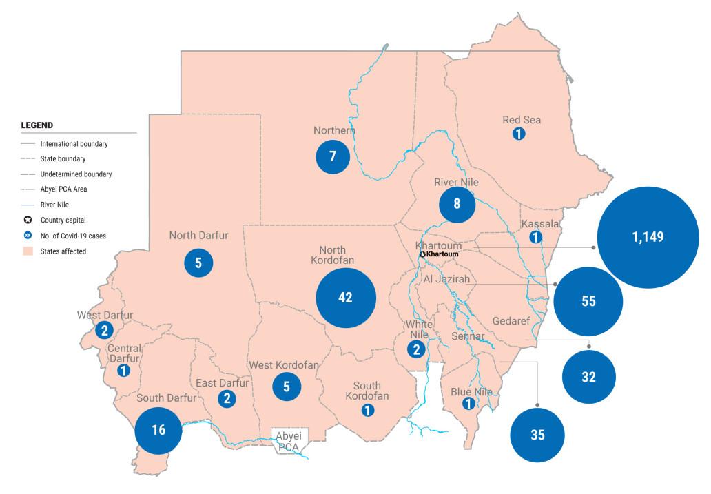 Sudan Covid19 cases 10 May 2020