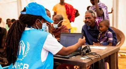 Registration of Ethiopian Refugees in Um Rakuba UNHCR Ahmed Kwarte