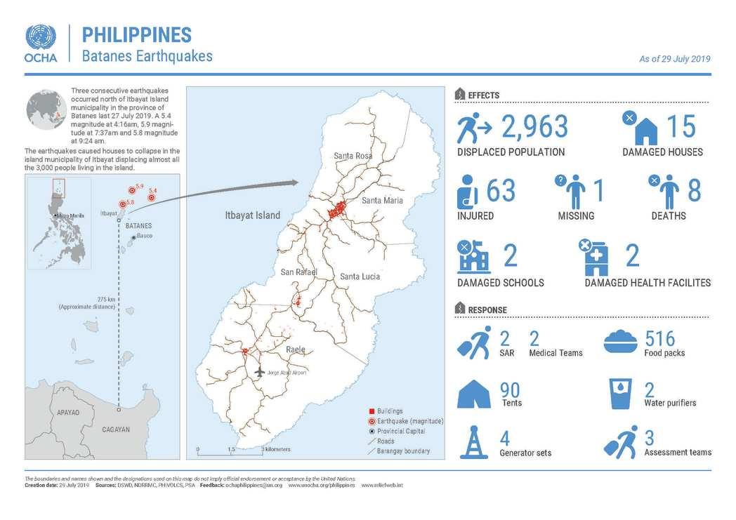 Humanitarian Snapshot: Batanes Earthquakes (27 July 2019)