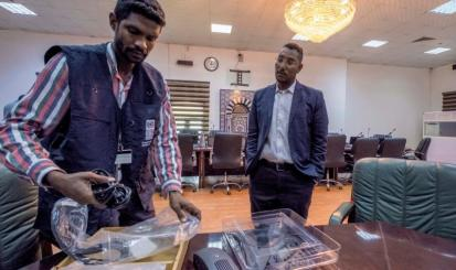 UNDP donates teleconferencing equipment to government of Sudan