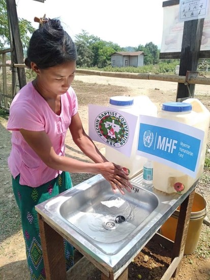 Jahtu Zup Aura camp handwashing station